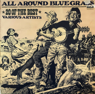 V/A - All Around Bluegrass: 20 Of The Best (LP) (EX/G)